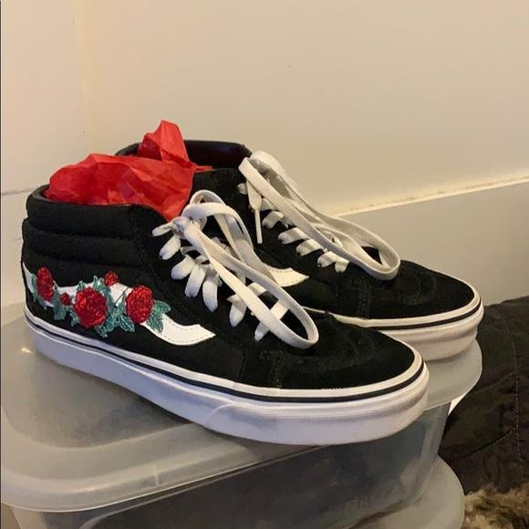 Vans Shoes | Vans Black Rose